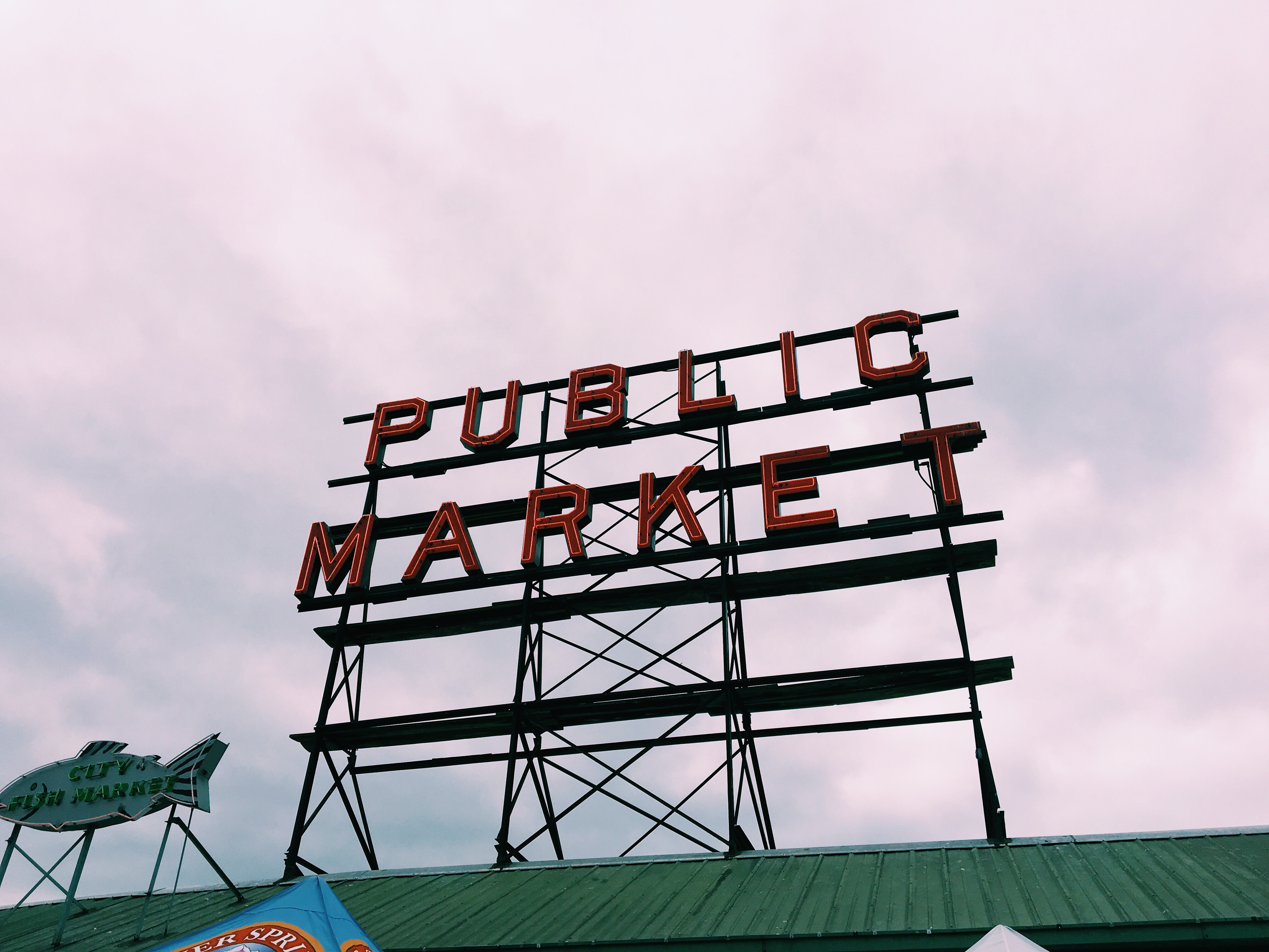 Public Market; did you know the locals only call it Pike's Place, vs. Pike's Marketplace?